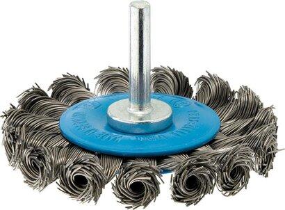 Werkzeug-Rundbürste Stahldraht, gezopft