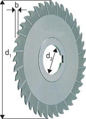 Schmaler Scheibenfräser HSS Co5 DIN 1834A