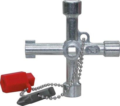 Schaltschrank-Schlüssel mit Wendebit 72 x 72 mm