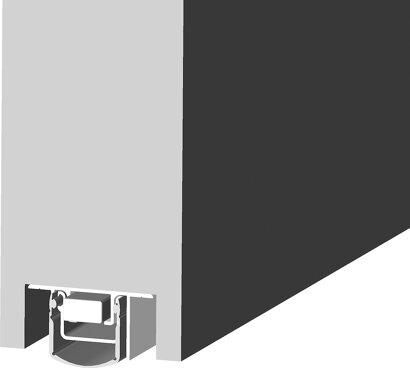 Schiebetürdichtung Schall-Ex® Slide L-24/20 TS, Silikon