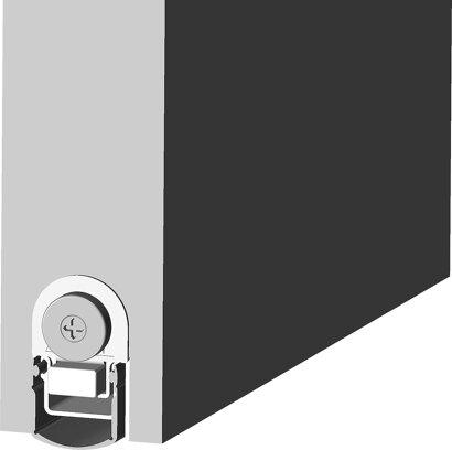Schiebetürdichtung Schall-Ex® Slide&Lock L-24/20 WS, Silikon