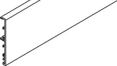 Clip-Blende Porta 60/100 HC/GMD für Wandmontage