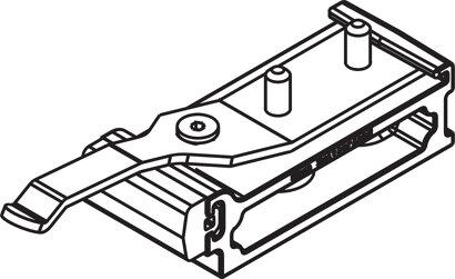 Schienenstopper mit einstellbarer Rückhaltefeder
