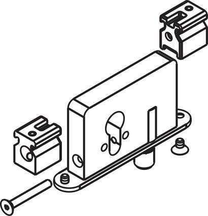 Bolzenriegelschloss 4-/6-kant-Nuss