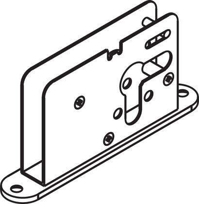 Bolzenriegelschloss 9 mm, Profilzylinder 17 mm