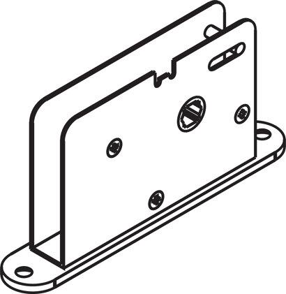 Bolzenriegelschloss 9 mm, 4/6-kant-Nuss