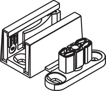 Doppel-Bodenführung Glas/Holz mit selbstklebenden Gleitelement