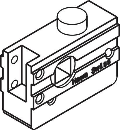 Rundriegelschloss mit 4-kant-Nuss 7mm (Aperto)