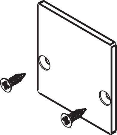 Abdeckkappe zu 2x Einfachlaufschiene