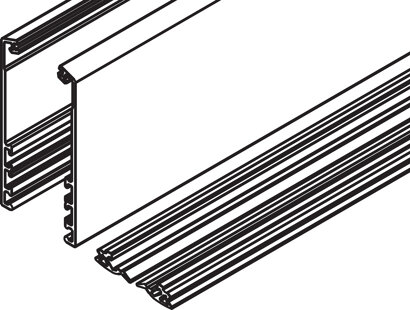 Abdeckprofil für 1 horizontales Profil
