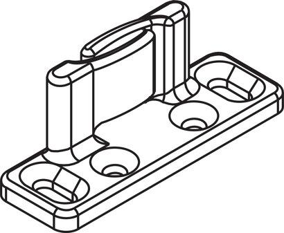 Bodenführung Nutbreite 7 mm