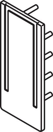 Abdeckkappe zu Glashalteprofil 21783 21784 13158 13159