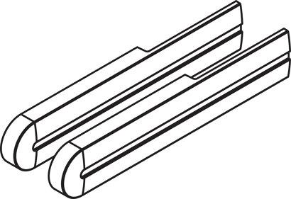 Abdeckkappen zu Dämpfeinzug für Möbeltüren