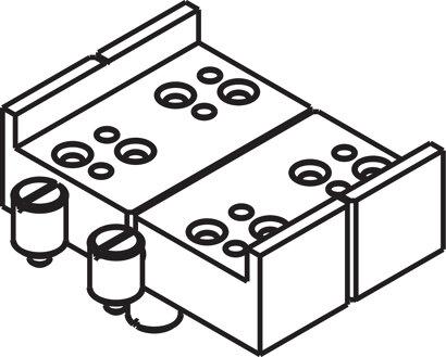 Bohrlehre für Scharnierband ø5mm zum Nieten inklusive Gewindebolzen