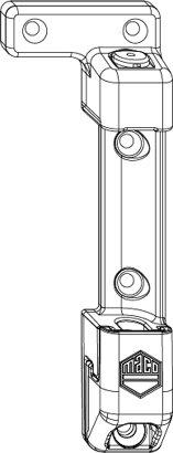 Scherenlager mit 9 mm Tragezapfen