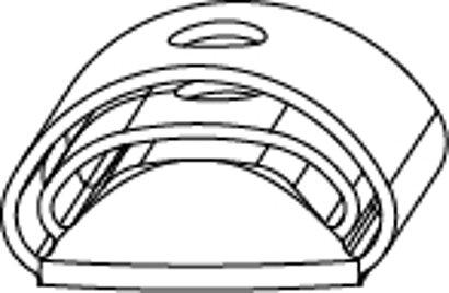 Anschlagpuffer für Rasthalter 20 mm