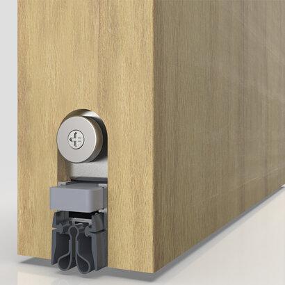 Schiebetürdichtung Schall-Ex® Slide&Lock M-20 WS Strahlenschutz, Silikon