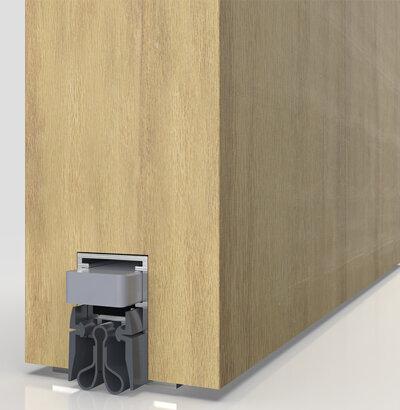 Schiebetürdichtung Schall-Ex® Slide M-20 OS Strahlenschutz, Silikon