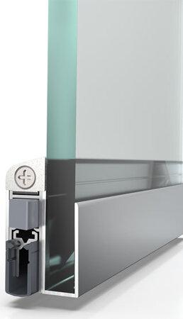 Glastürdichtung Schall-Ex® DUO GS-10, Silikon