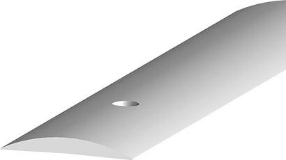 Teppich-/Laminatübergangsprofil 090, gebohrt, Aluminium