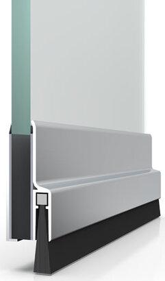 Bürstendichtung Glasdicht GD-SK-20, Aluminium