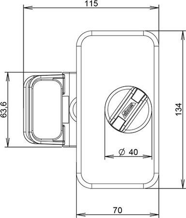 Fingerschutz-Türstopp HS-25