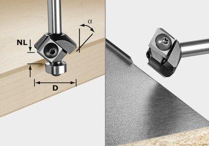 Fasefräser-Wendeplatten S8 HW