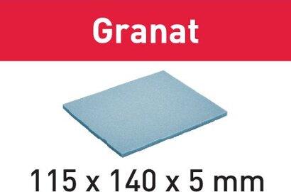 Schleifpad 115x140x5 Granat