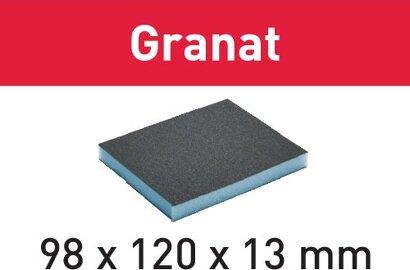 Schleifschwamm 98x120x13 Granat