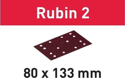 Schleifstreifen STF 80X133 Rubin 2
