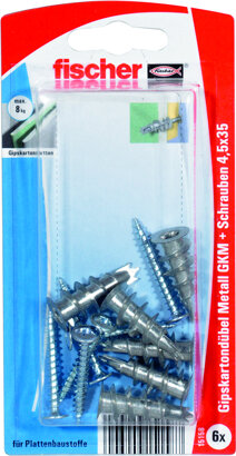 Gipskartondübel Metall GKM S K mit Schraube