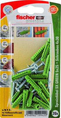 Spreizdübel SX GREEN K mit Schraube