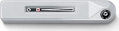 Aufliegendes Fenstergetriebe F 1200, für abnehmbare Betätigungskurbel, Aluminium