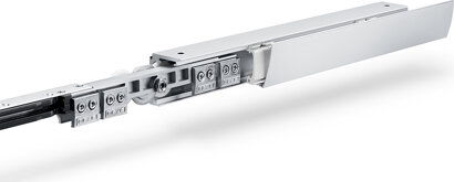 Schiebetürbeschlag mit Laufschiene Levolan 120, Aluminium