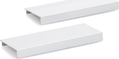 Abdeckprofil Glasklemmplatte, durchgehende Verblendung, Aluminium