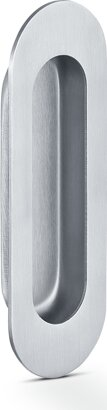 Griffmuschel, oval, Edelstahl