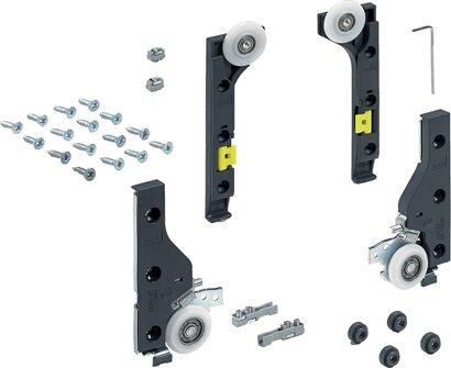 Schiebetürbeschläge-Set SlideLine M, für ungedämpfte Türen, Kunststoff, Zinkdruc