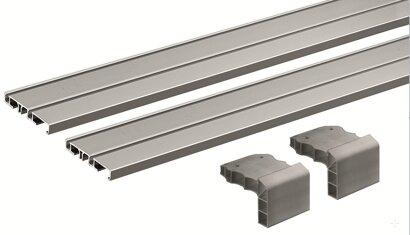 Laufprofil-Set SlideLine M, 2-bahnig, Aluminium