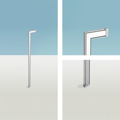 Boden/Wandverbindungsprofil, Amari 200, Aluminium