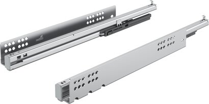 Unterflur-Vollauszug Quadro V6+, Silent System, 50 kg, Stahl