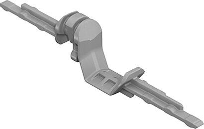 zweiseitiger Adapter Quadro, Kunststoff