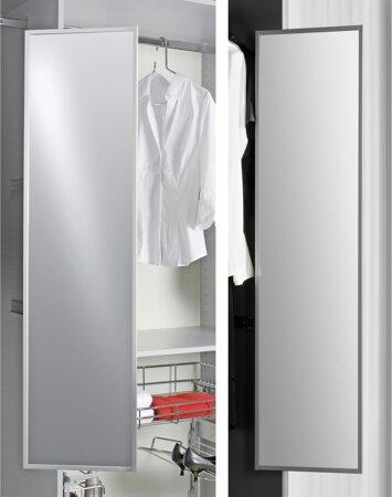 Drehbarer Badezimmer-Spiegel aus Aluminium