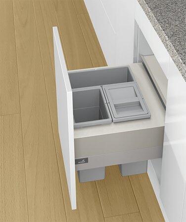 Abfallsystem Frame 500, Aluminium