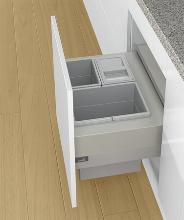 Abfallsystem Frame 600, Aluminium