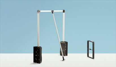 Kleiderlift, Duo Lift Basic 10, Aluminium, Kunststoff