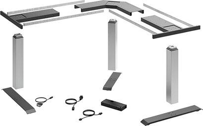Elektro-Tischgestell-Set LegaDrive, Stahl, Aluminium