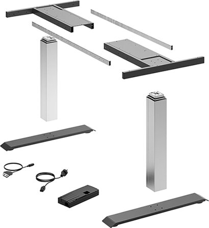 Elektro-Tischgestell-Set LegaDrive Basic, Stahl, Aluminium