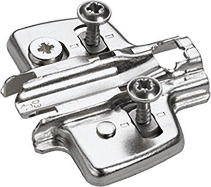 Kreuzmontageplatte Sensys 8099, mit vormontierten Spanplattenschrauben, Stahl