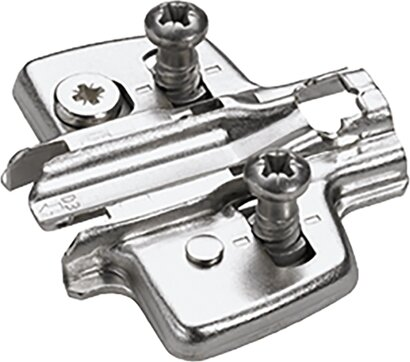 Kreuzmontageplatte Sensys 8099, mit vormontierten Euroschrauben, Stahl