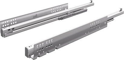 Unterflur-Vollauszug Quadro V6+, Push to open, 50 kg, Stahl